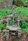 Handgemachter ethnischer Stuhl Lizenzfreies Stockbild