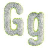 Handgemachter Gray Letter G lokalisierte auf Weiß lizenzfreies stockfoto