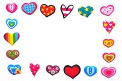 Handgemachter Herzrahmen Stockbilder