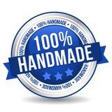 100% handgemachter Knopf - on-line-Ausweis-Marketing-Fahne mit Band stock abbildung