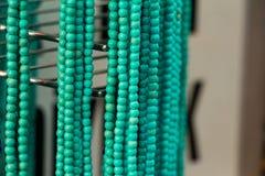 Handgemachter Schmuck des blauen Grüns Stockfotografie