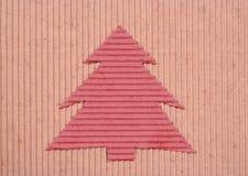 handgemachter Weihnachten-Baum Hintergrund Lizenzfreie Stockfotografie
