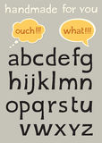 Handgemachtes Alphabet Stockfoto