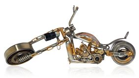 Handgemachtes Motorrad, Zerhacker, Kreuzer bestanden aus Metallteilen, b Stockfotografie