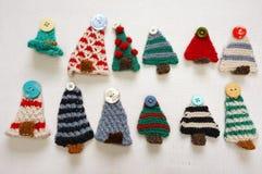 Handgemachtes Produkt, Feiertag, strickende Verzierung, Weihnachten Lizenzfreies Stockbild