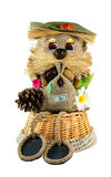 Handgemachtes Spielzeug ist ein simbol von Wellness und von Hauptschutz Lizenzfreie Stockfotos