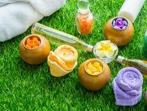 Handgemachtes Sugar Peach Scrub With Argan-Öl Handgemachte Seife Himala Lizenzfreie Stockbilder