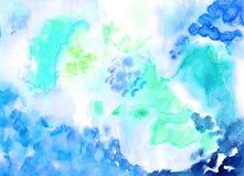 Handgemachtes Watercolourbild für unterschiedliches Design Abbildung Stockfotografie