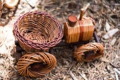 Handgemachtes Weidenspielzeug Stockbild