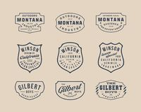 Handgemachtes Weinlese-Logo, Insignien und Ausweise 2 lizenzfreie stockfotografie