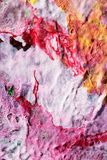 Handgemalte abstrakte Gouachen stockfoto