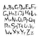 Handgemalte Buchstaben Stockfotos