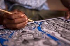 Handgemalte buddhistische Kunst Lizenzfreie Stockfotos