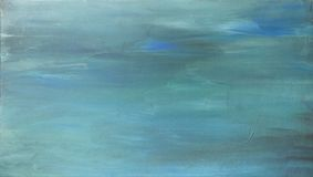 Handgemalter acrylsauerhintergrund der Türkisblau-Zusammenfassung stockbild