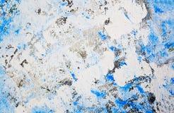Handgemalter blauer Aquarellzusammenfassungshintergrund stockbilder