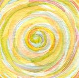 Handgemalter Hintergrund des abstrakten Aquarells. Lizenzfreies Stockfoto