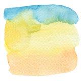 Handgemalter Hintergrund des abstrakten Aquarells Lizenzfreies Stockfoto