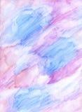 Handgemalter Hintergrund des Aquarells Lizenzfreies Stockfoto