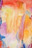 Handgemalter Kunsthintergrund des Aquarells Stockbilder