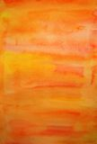 Handgemalter Kunsthintergrund des orange Aquarells lizenzfreie stockbilder