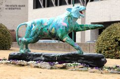 Handgemalter Tiger Statue, Memphis Tennessee stockfotos