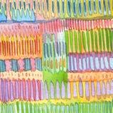 Handgemalter Verzierungshintergrund des abstrakten Aquarells Stockbild