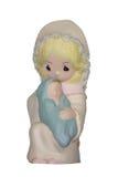 Handgemaltes Geburt Christi keramisch Stockbilder