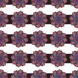 Handgemaltes nahtloses Muster Aquarellpaisleys Auszug verlässt Hintergrund Moderne Naturbeschaffenheit für Oberflächendesign Lizenzfreies Stockfoto