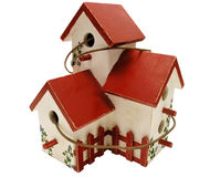 Handgemaltes Vogelhaus Lizenzfreie Stockbilder