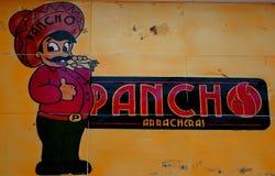 Handgemaltes Zeichen gesehen in Mexiko lizenzfreie stockfotos