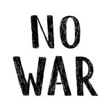 Handgeschriebene Aufschrift des Vektors kein Krieg Hand gezeichnete Bürstenstiftbeschriftung Lizenzfreies Stockfoto