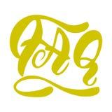 Handgeschriebene Aufschrift FAQ Beschriften elegant Getrennt auf weißem Hintergrund Stockfoto