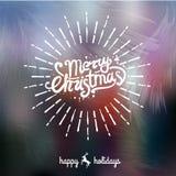 Handgeschriebene Beschriftung der frohen Weihnachten Lizenzfreie Stockfotos