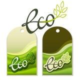 Eco Aufkleber Lizenzfreies Stockfoto