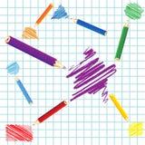 Handgeschriebene geometrische Abbildungen Lizenzfreies Stockbild