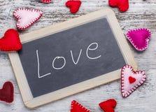 Handgeschriebene Mitteilung der Liebe Stockbilder