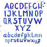 Handgeschriebene Typografie des Aquarells Lizenzfreie Stockfotografie
