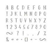 Handgeschriebener Guss mit Interpunktionszeichen Stockfotos