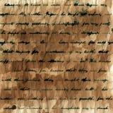 Handgeschriebener Texthintergrund Lizenzfreies Stockbild