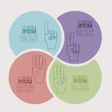 Handgest Närbilden av kvinnlign räcker att göra en gest, medan isolerat på vit Arkivfoton