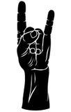 Handgest Närbilden av kvinnlign räcker att göra en gest, medan isolerat på vit Royaltyfri Fotografi