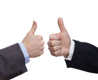 Handgest som isoleras på vit bakgrund Fotografering för Bildbyråer