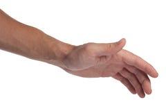 Handgeste: Anschlag Stockfotografie