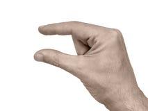 Handgeste: Gerade wenig Stockfoto