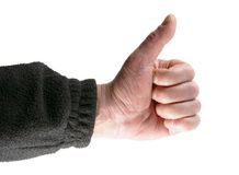 Handgeste-positives O.K. Lizenzfreies Stockfoto