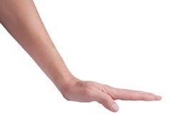 Handgeste: Stoß Stockbilder