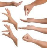 Handgesten - tragend oder anhalten lizenzfreie stockfotografie