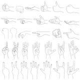 Handgester vektor illustrationer