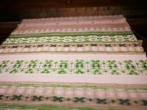 Handgestricktes textil Lizenzfreies Stockfoto