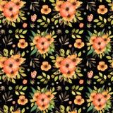 Handgezogene bunte Blumen-nahtloses Muster Hintergrund für Kartenzitate und -druck stock abbildung
